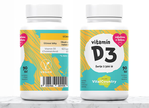 Vitamin D3 2500IU 90 tablet